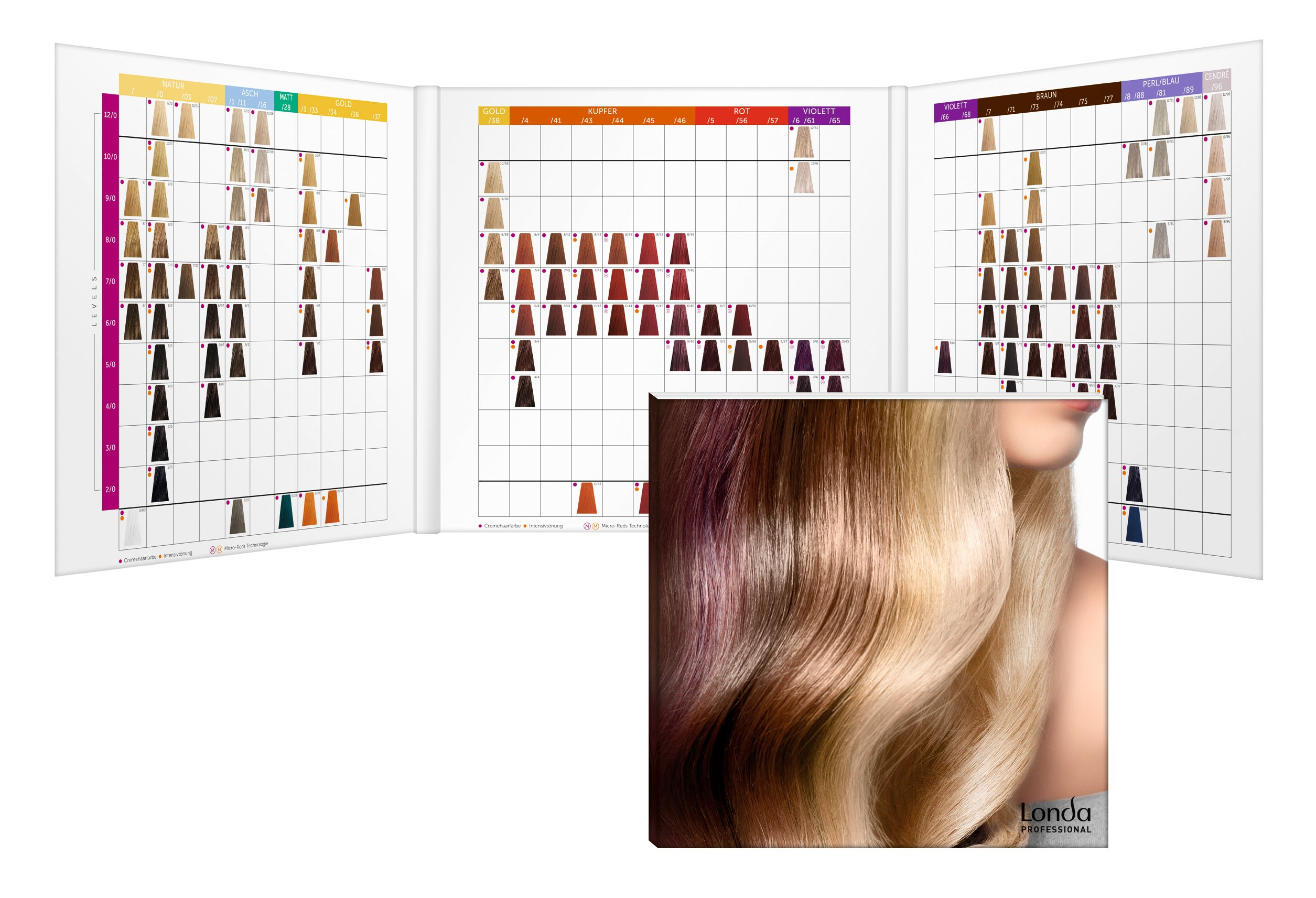 Eos haarfarben farbpalette