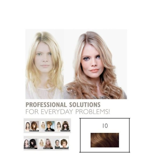 Double Hair SET glatt 10 dunkelblond Level 6 ca. 40cm Haarlänge
