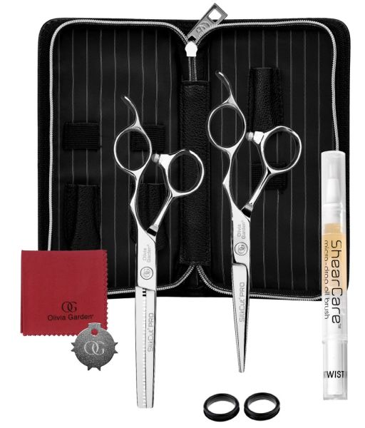 Friseurscherenset Haarscherenset OG SilkCut Pro silber.jpg