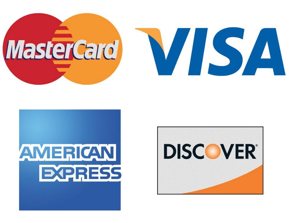 Kreditkarten Visa Master Amex Discover