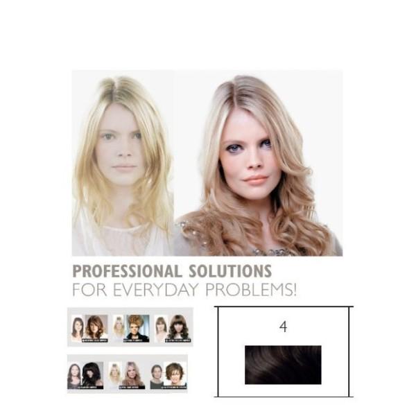 Double Hair SET glatt 4 mittelbraun ca. 40cm Haarlänge