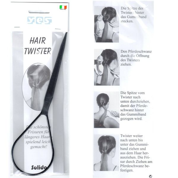 Twister Pony Tail Twister Solida Hair Twister Schwarz