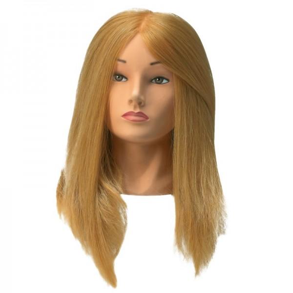 Übungskopf SI Synthetik blond 35cm - 45cm Haarlänge