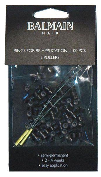 Balmain Rings zur Haarverlängerung black / schwarz