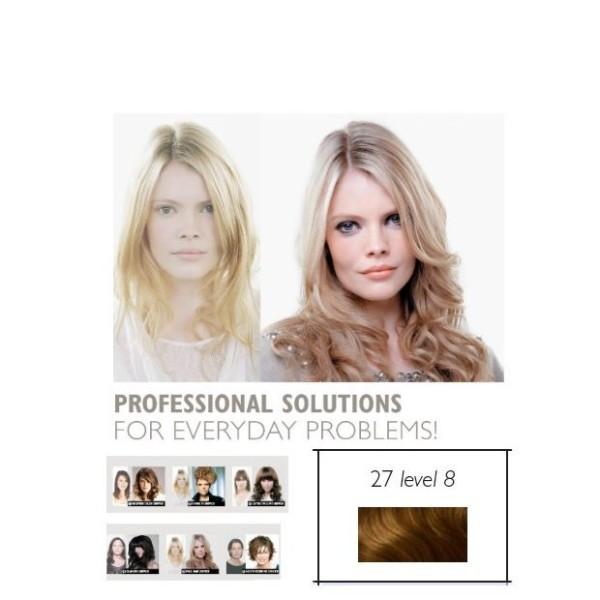Double Hair SET glatt 27 tabacco hell Level 8 * ca. 40cm Haarlänge
