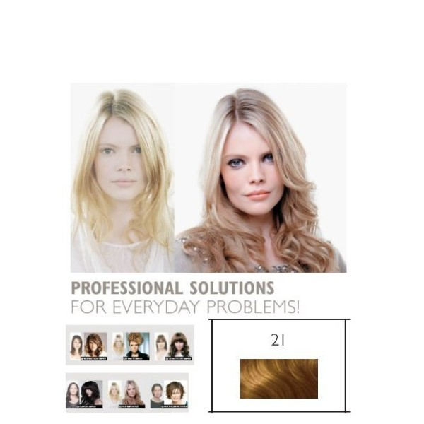 Double Hair SET glatt 21 lichtblond ca. 40cm Haarlänge