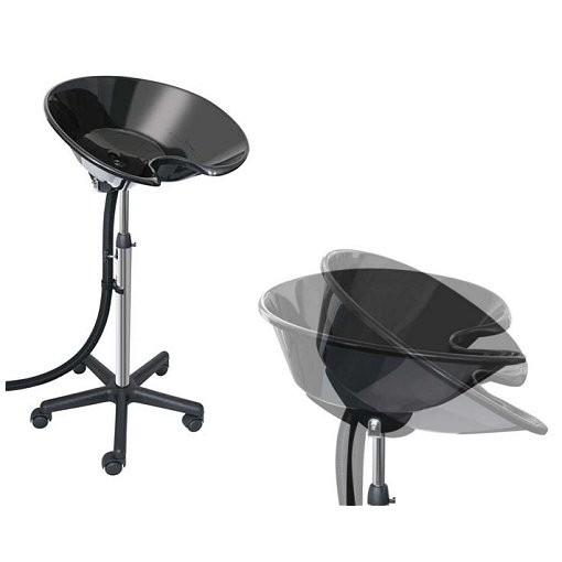 r ckw rtswaschbecken hf schwarz mit rollen f friseure waschs ule stativ friseur. Black Bedroom Furniture Sets. Home Design Ideas